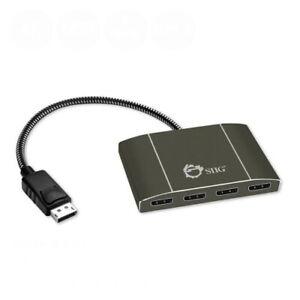 SIIG-4-Port-DisplayPort-to-DisplayPort-MST-Hub-4k-Muti-Monitor-Splitter-1x4