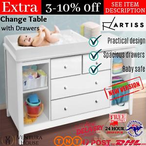 White Baby Chest Storage Dresser Wooden