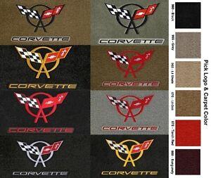 Lloyd Mats C5 Corvette Double Logo Velourtex Floor Mats 1997-2004