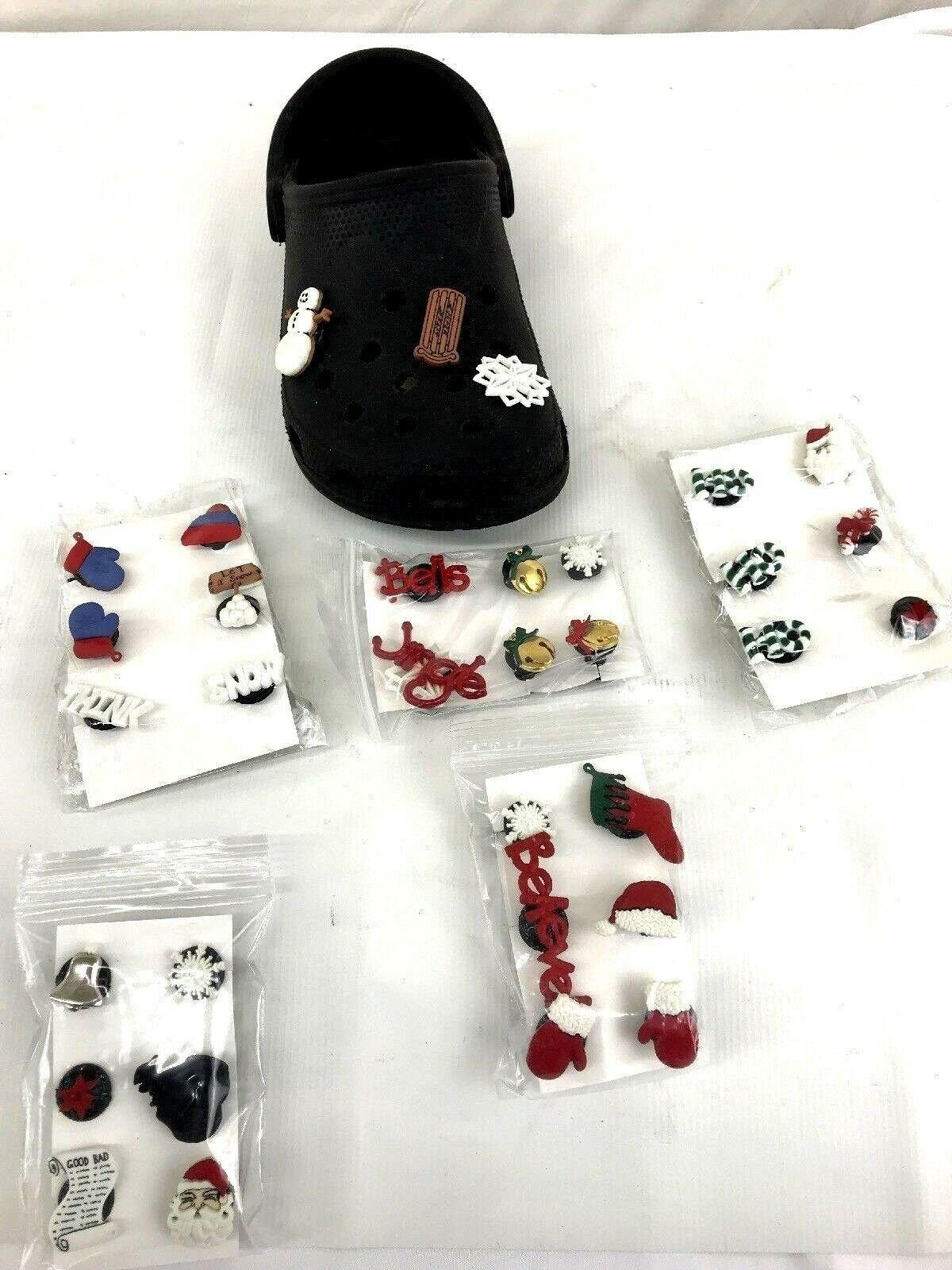 Lot of 5 Sets Holiday Themed Shoe Buttons