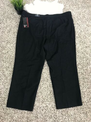 senza Pantaloni Tasche casual Avenue 24p donna Stretch Sz Nero spacco L27 qx6AwaX