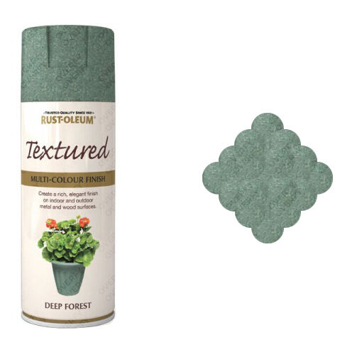 x1 Rust-Oleum Multi-Colour Premium Spray Paint Textured Deep Forest Green