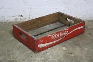 holz vintage soda coke coca cola box 60er retro gartenkorb box ebay. Black Bedroom Furniture Sets. Home Design Ideas