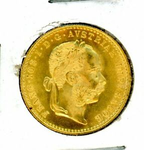 1915-Austrian-Gold-Ducat-986-FINE-Gold-Coin-0-1106-Troy-Oz-Pure-Gold
