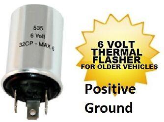 bracket 6 volt 535 POSITIVE GROUND turn signal flasher plug etc. bulb Socket