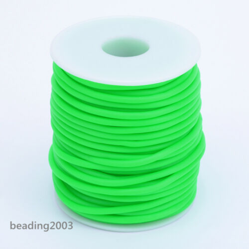 25m//roll PVC Tubular Hollow Rubber Tubing Cord Craft Making Choice of Colors 3mm