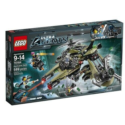 NEW Lego ULTRA AGENTS (70164) Hurricane Heist - 589 pcs