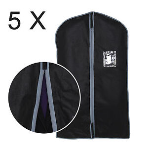 5-x-BREATHABLE-COAT-DRESS-SUIT-SHIRT-COVER-TRAVEL-BAG-GARMENT-PROTECTIVE-COVER
