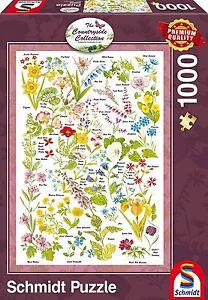Fleurs-Sauvages-Schmidt-59566-Campagne-Art-Qualite-Superieure-Puzzle-1000-Pieces