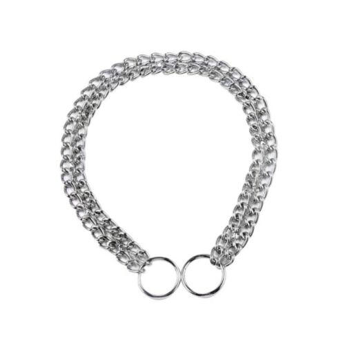 Pet Dog Stainless Steel Choke Chain Silver Choker Collar Twisted Safe Necklace
