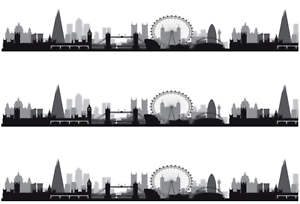 Image Is Loading London Skyline Silhouette A4 Edible Icing Cake Side