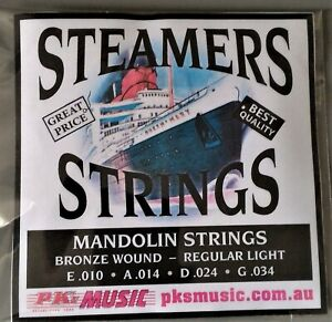 Steamers-BUDGET-Mandolin-Strings-Stainless-Bronze-Loop-End-NEW-FREE-POSTAGE