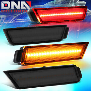 Details about FOR 2010-2015 CHEVY CAMARO 4PCS LED SIDE MARKER BUMPER LIGHT FRONT+REAR SMOKED