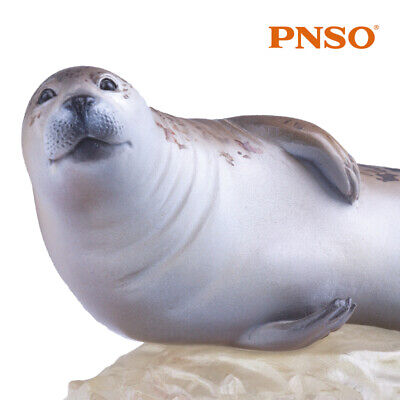 PNSO Seal Model Sea Dog Figure Phocida Ocean Animal Toy Collector Decor Kid Gift