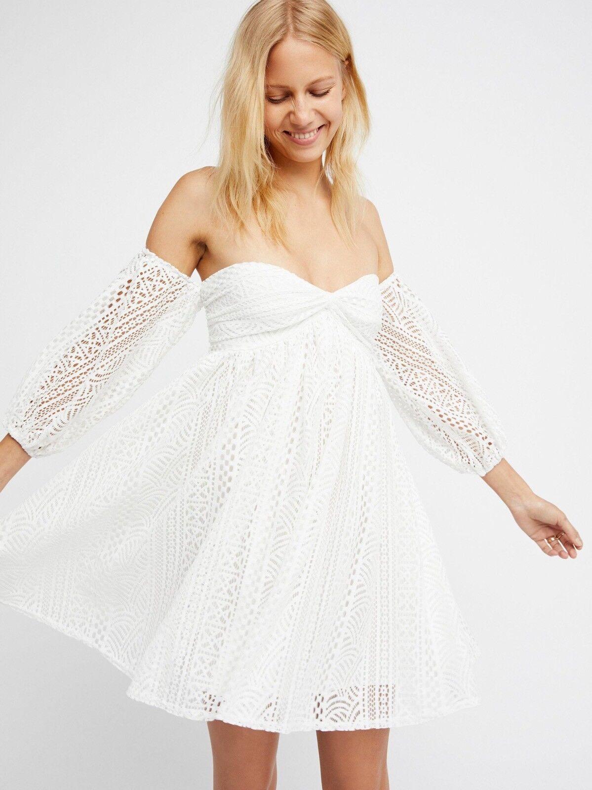 MWOT Free People Eylet Emmy Lou Mini Baby Doll Dress large