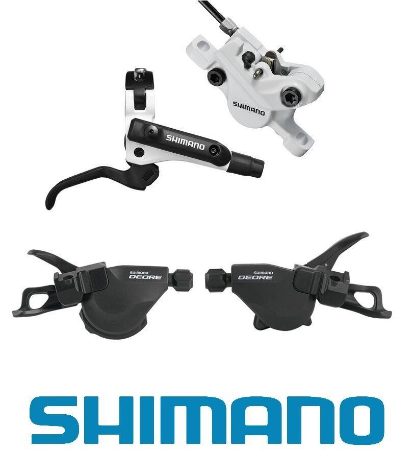 Frenos de Shimano BL-M506 BR-M447 & M610 (2 3x10) Conjunto de Palanca de cambios Ispec-blancoo Negro