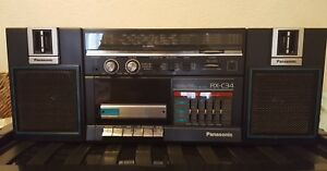 Panasonic-RX-C34-radio-cassette-boom-box-read-description