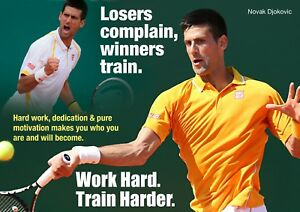 Novak Djokovic Poster Motivational Quote 7 A4 297mm X 210mm Ebay