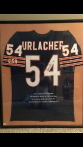 brian urlacher autographed jersey Framed With Stats Sewn Onto Jersey