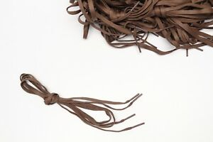 Brown-Shoelaces-One-Pair-38-Casual-Dress-Boot-1-4-Flat-Woven-New-Shoe-Laces