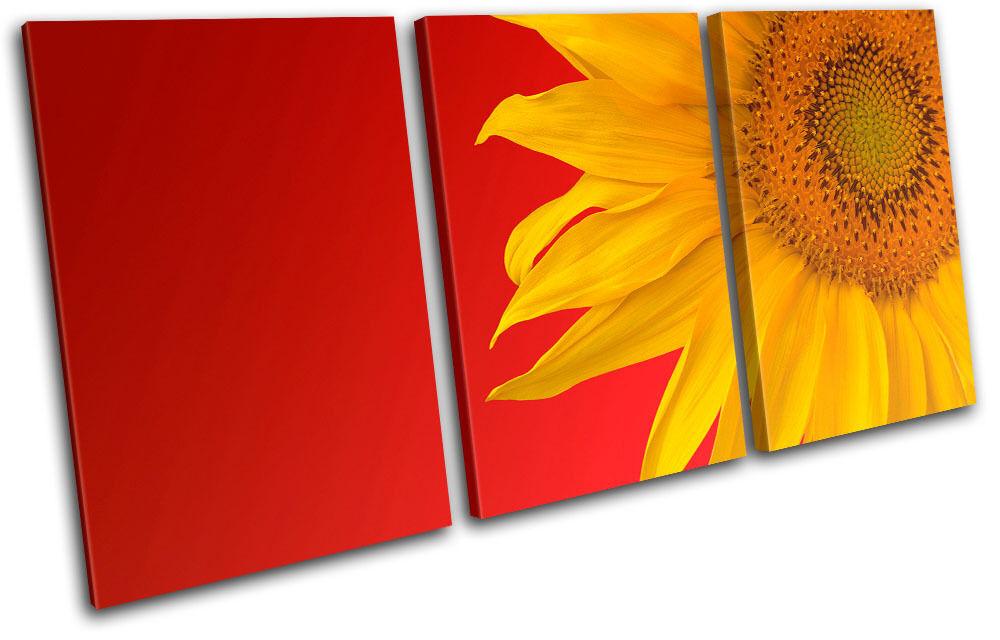 Sunflower Floral TREBLE LONA pa rojo  arte Foto impresion impresion Foto 1e5335