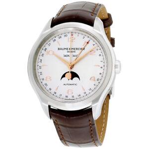 Baume Mercier Clifton Automatic Movement Silver Dial Men's Watch M0A10055