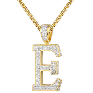 Custom letter initials pendant a z charm gold finish 3d iced image is loading custom letter initials pendant a z charm gold finish aloadofball Image collections