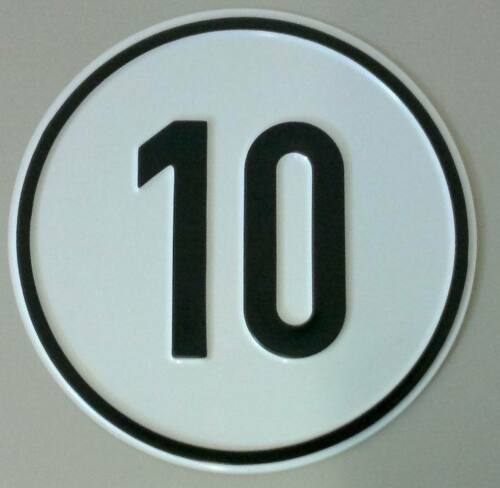 10 kmh Schild aus Alu Geschwindigkeitsschild 10 km//h