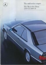 Mercedes Benz W124 Coupe 230 300 CE 1988-89 Original UK Sales Brochure
