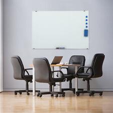 Glass Office Whiteboard Magnetic Dry Clean Erase Board 35 X 24 White Frameless