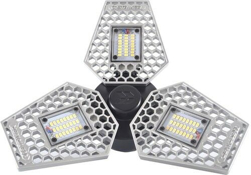 NEW  TriLight - 3000 Lumen Motion Activated Ceiling Light for Garage   Att 00342