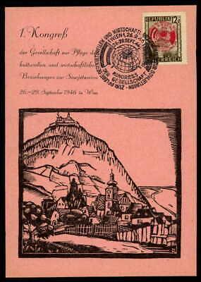 Austria Mk 1946 Wien Kongreß Sowjetunion Maximumkarte Maximum Card Mc Cm Ep05 Einen Effekt In Richtung Klare Sicht Erzeugen