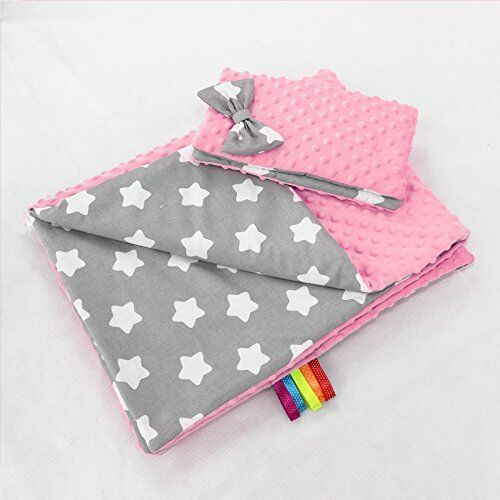 BABY BLANKET DIMPLE FLUFFY COTTON SOFT TO TOUCH WARM QUILT PILLOW 100x75 cm