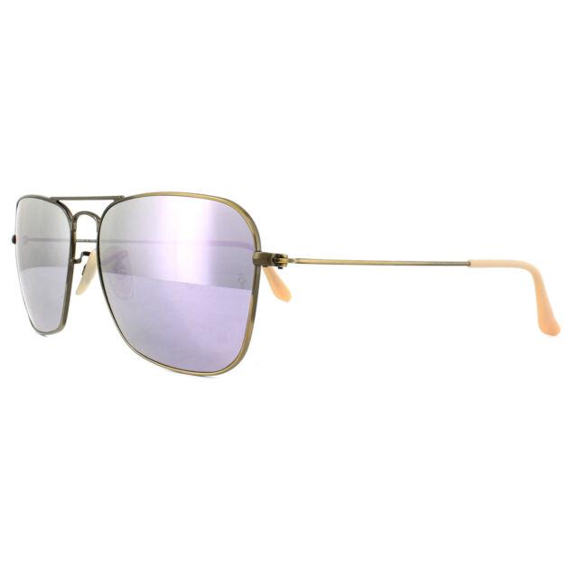 2716a7316b Ray-Ban Sunglasses Caravan 3136 167 4K Bronze Copper Lilac Mirror 58mm