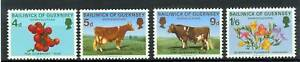 Cows & Flowers Guernsey 1970 Clear-Cut Texture Topical Stamps Mucche