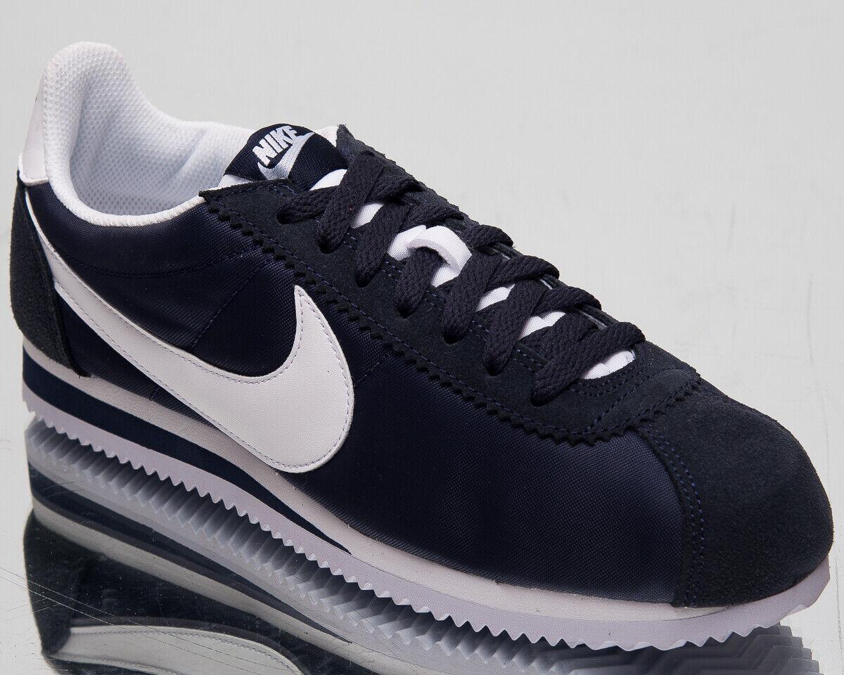 Nike classeic Cortez Nylon Da Uomo Ossidiana Casual Stile Di Vita Sautope da ginnastica 807472-410 Sautope classeiche da uomo
