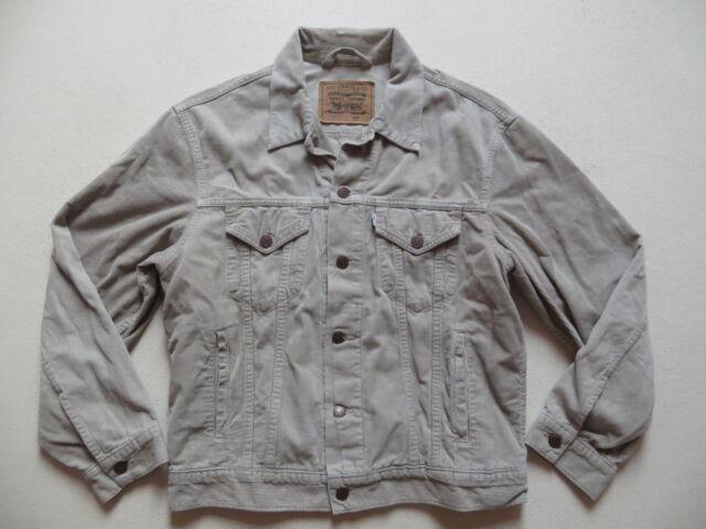 Levi's Jeans Biker Jacke, Cordjacke Gr. M, Beige, Oldschool Fashion, 6 Taschen !