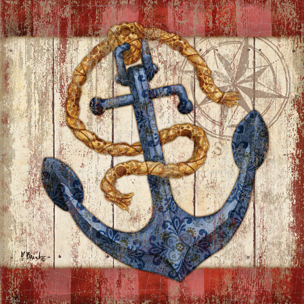 Paul Brent  knotical IIII telaio-Immagine Tela Ancoraggio Maritim SHABBY nodi