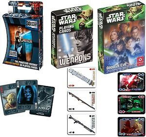 Disney-Star-Wars-Kartenspiel-Spielkarten-3D-Weapons-Good-Evil-Mau-Mau-Poker-Skat