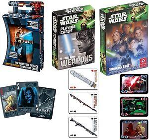 Disney-Star-Wars-Kartenspiel-Spielkarten-3D-Weapons-Good-Evil-Mau-Mau-Poker-Skat