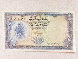 1 Lb (environ 0.45 Kg) 1963 Libye Billet-afficher Le Titre D'origine