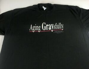 Aging-Gracefully-T-Shirt-VTG-Adult-L-XL-Old-Age-Funny-Hallmark-USA-Made-Birthday