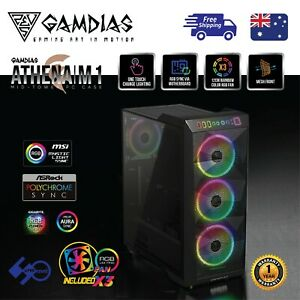Computer-Case-Gamdias-ATHENA-M1-ATX-Tower-Tempered-Glass-with-3-x-120mm-ARGB-Fan
