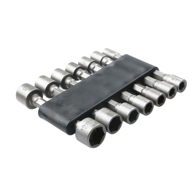 "14pcs 1//4/"" Hex Shank Power Nut Driver Bit Set Metric /& SAE Standard Socket Bits"