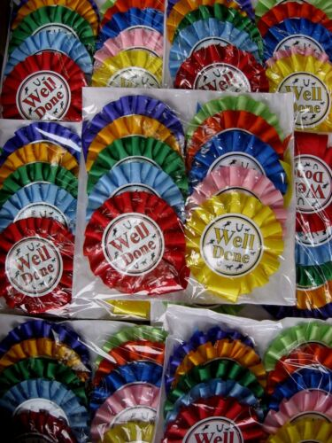 Horse Rosettes 1 Tier Well Done with Printed Images 10 Assorted Colours