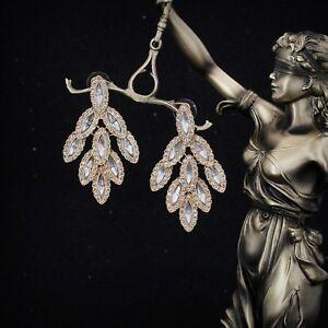 Earrings-Nails-Golden-Big-Chandelier-Wings-Crystal-Marriage-AA9