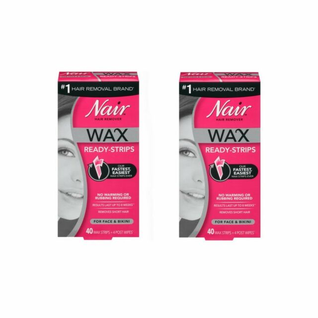 Nair Hair Remover Wax Ready Strips For Face Bikini 40 Ct 1 Ea For Sale Online Ebay