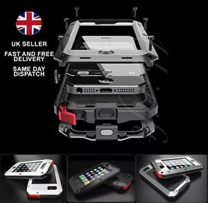 Gorilla-Shockproof-Aluminium-Alloy-Black-Metal-Case-Apple-iPhone-5-5S-UK-STOCK