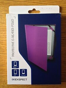 EXSPECT PROTECTIVE EREADER FOLIO Purple KINDLE 45 TOUCH SONY T12 KOBO TOUCH - Telford, United Kingdom - EXSPECT PROTECTIVE EREADER FOLIO Purple KINDLE 45 TOUCH SONY T12 KOBO TOUCH - Telford, United Kingdom