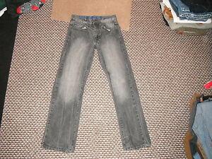 Jeans-reguliers-facile-taille-30-034-Jambe-31-034-noir-delave-jean-homme